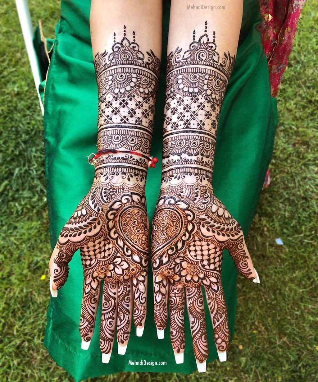 bridal mehndi design for back hands