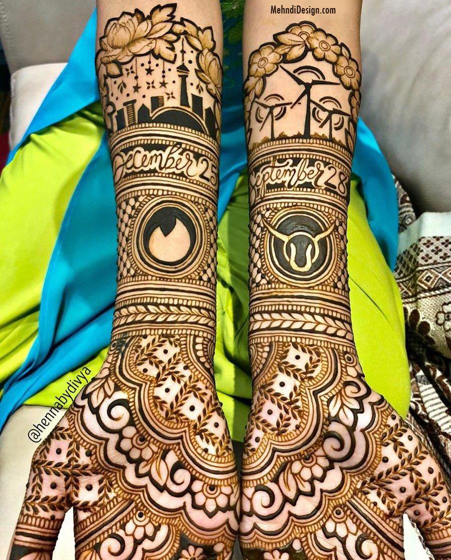 bridal mehndi design for full back hand