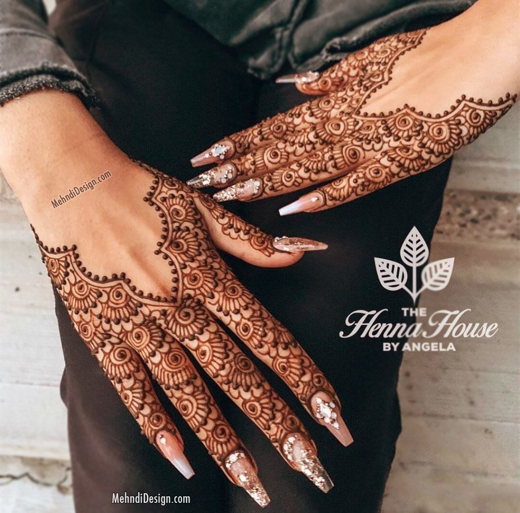 bridal mehndi design for half hand