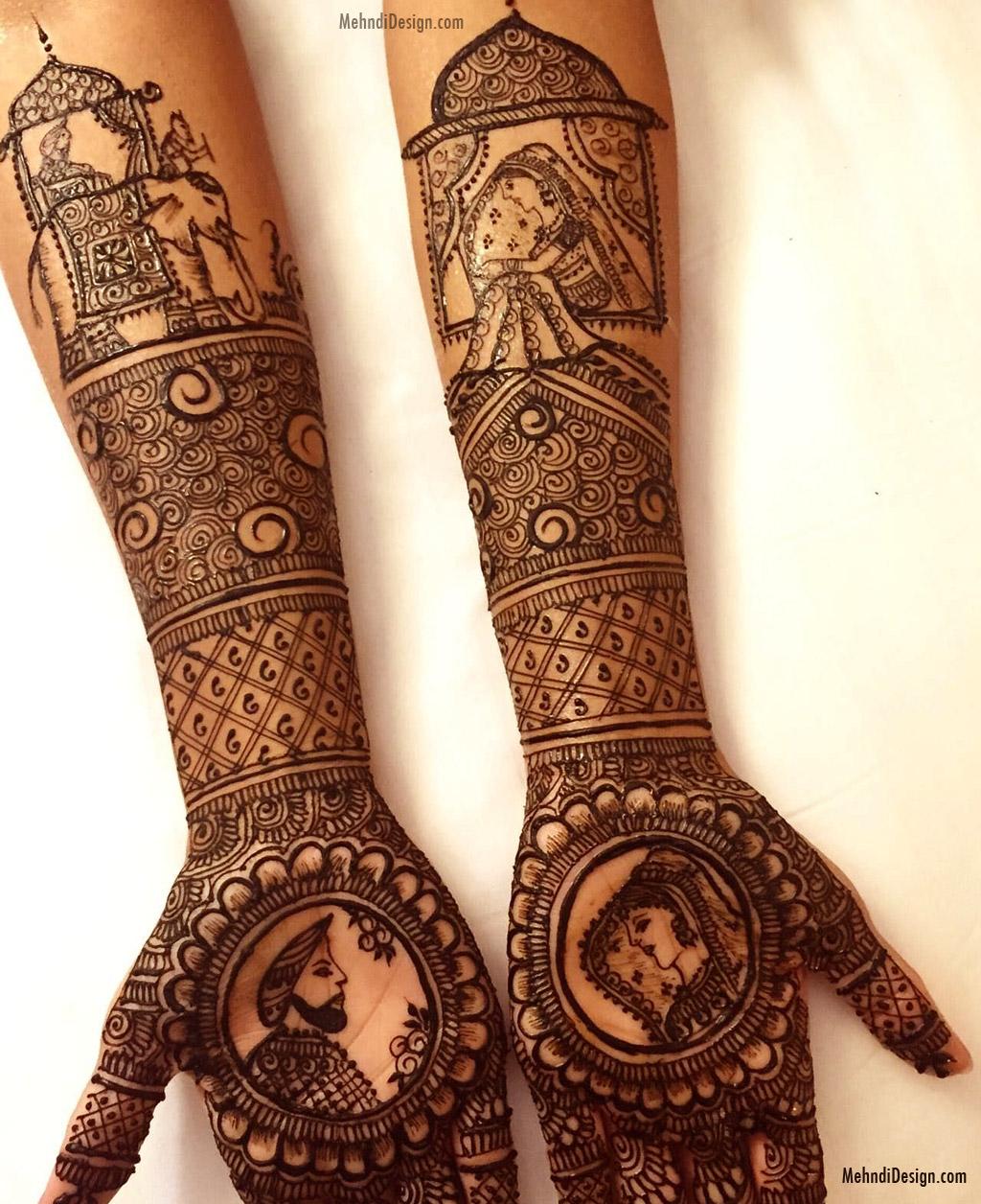 bridal mehndi designs for back hand rajasthani