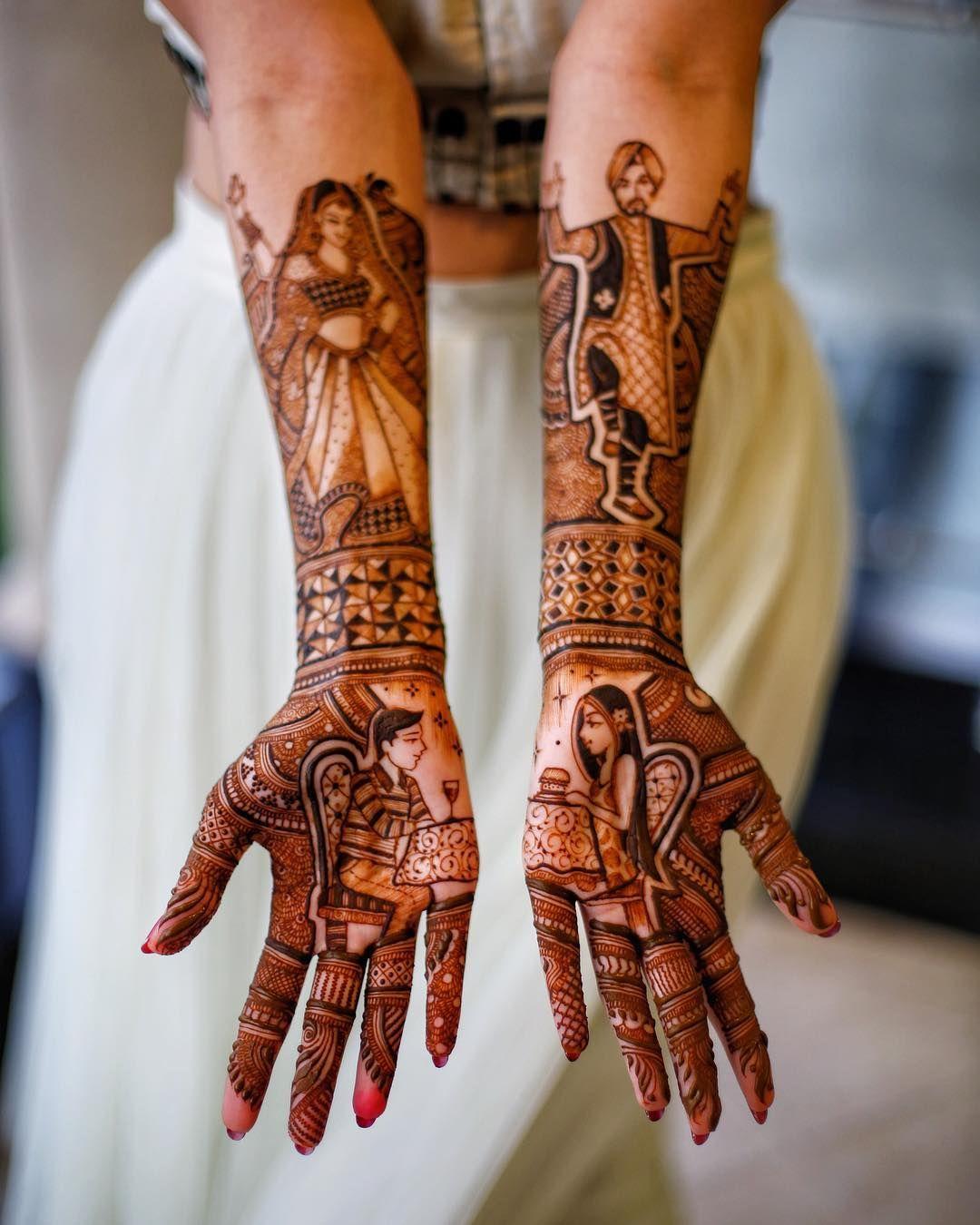 bridal mehndi designs for full back hand