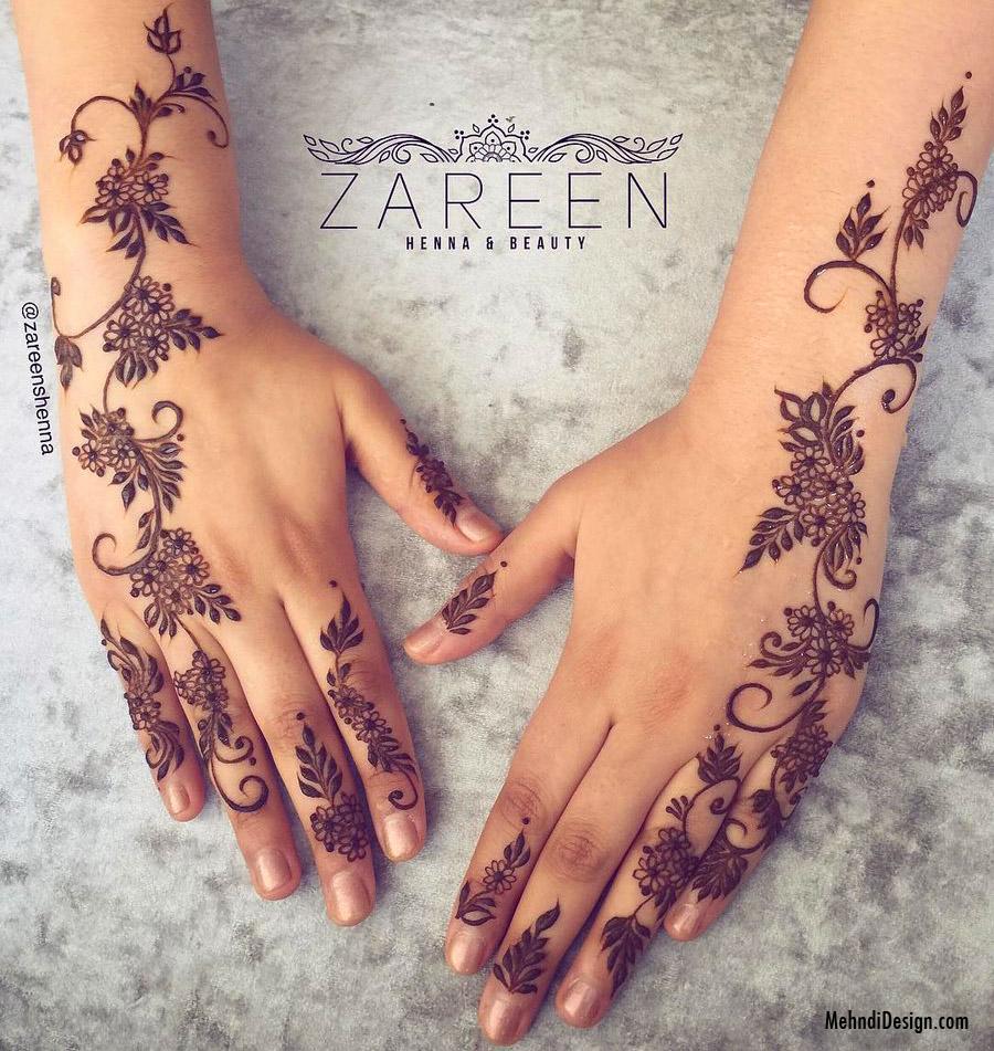 easy arabic mehndi design backhand by zareen