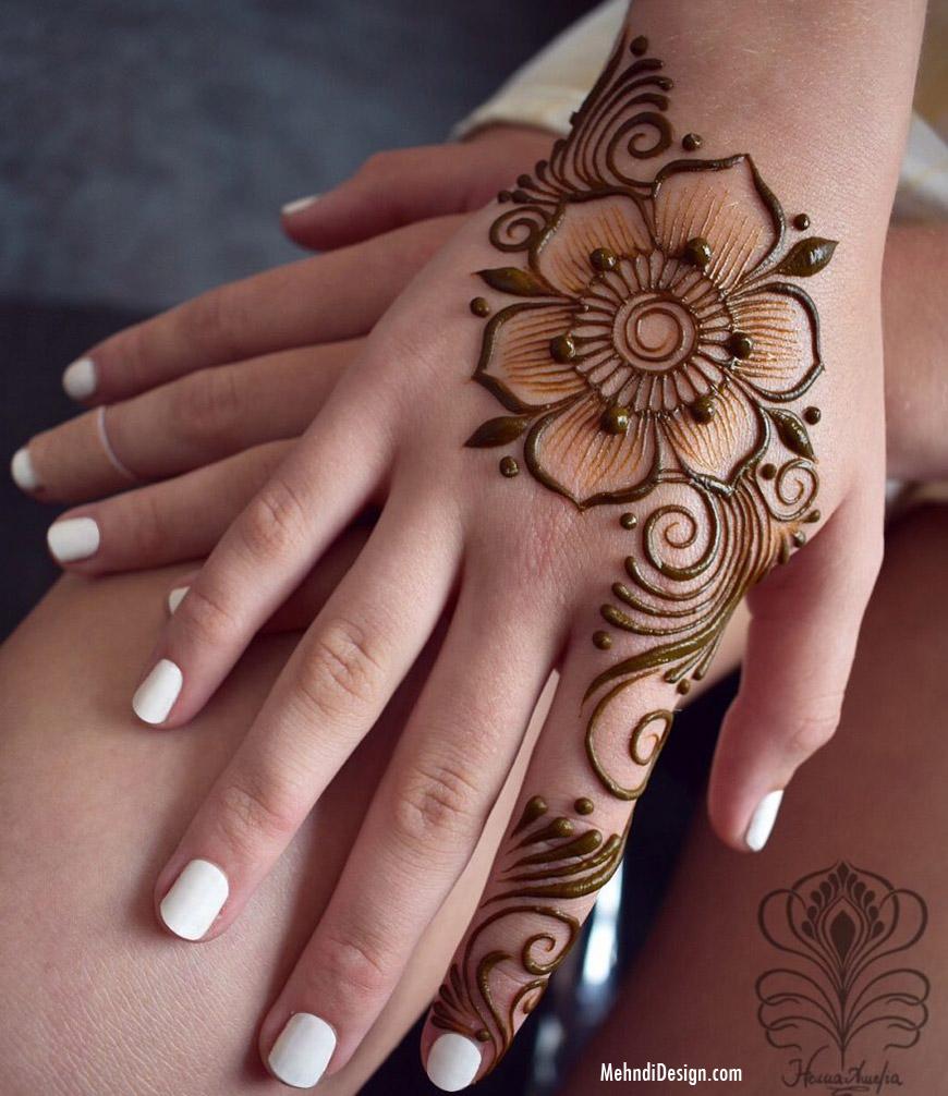 easy mehndi design by henna amelia