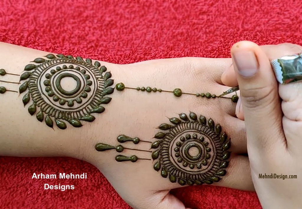 easy simple mehndi design by arham mehndi design
