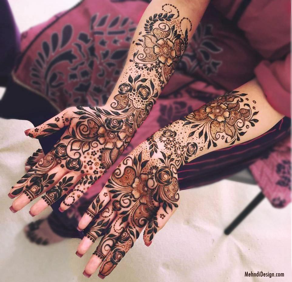 mehndi design for bridals back hand
