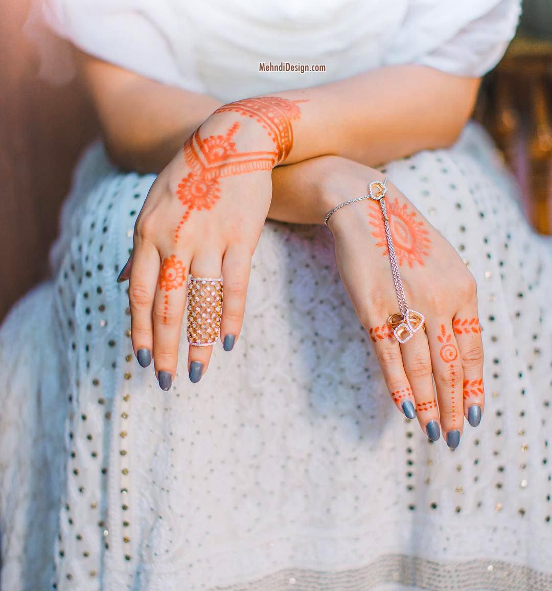 simple mehndi design for weddings