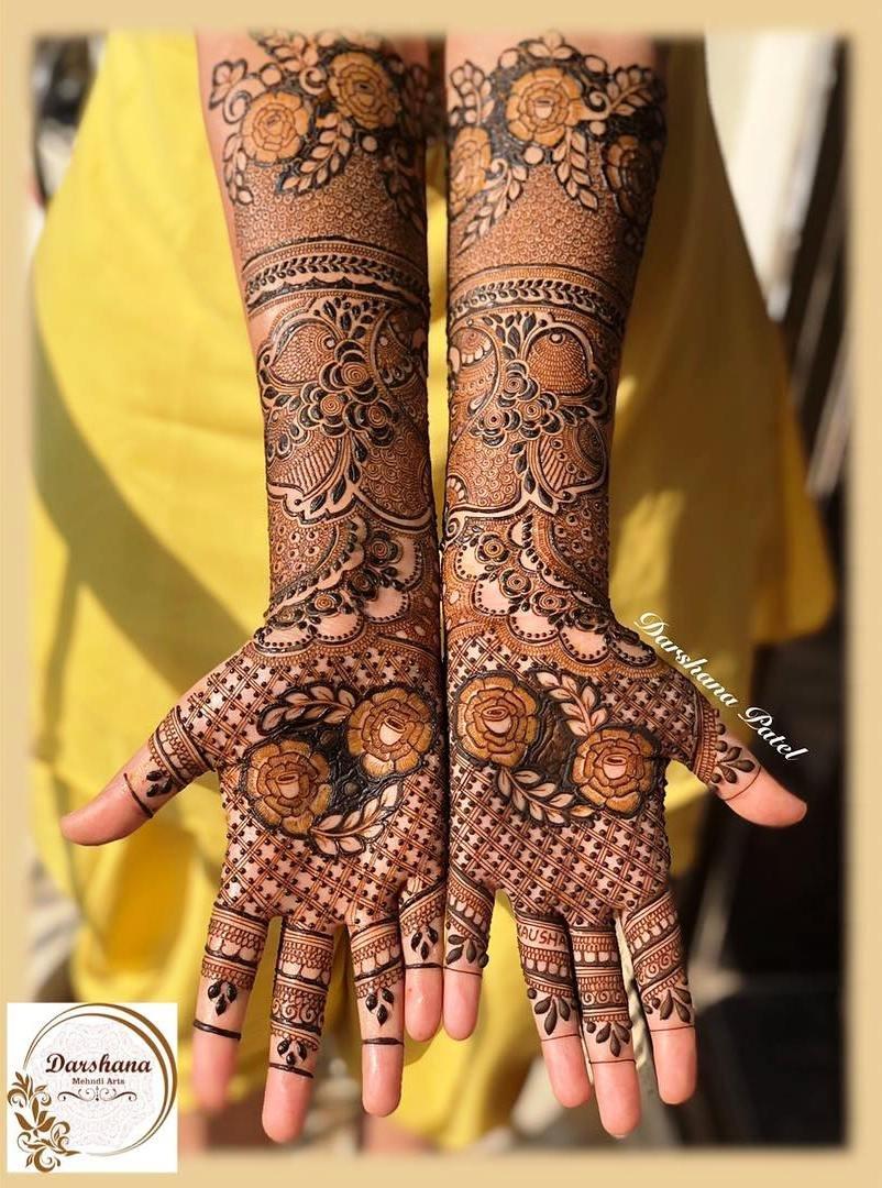 16 mehndi design hands full hand