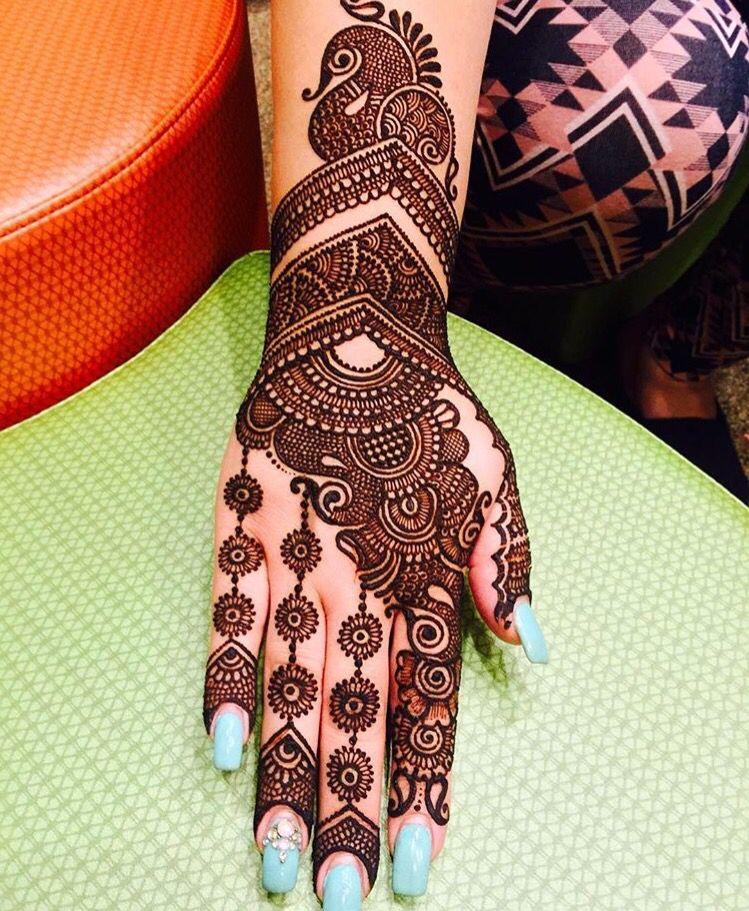 17 pakistani mehndi designs flower tikki