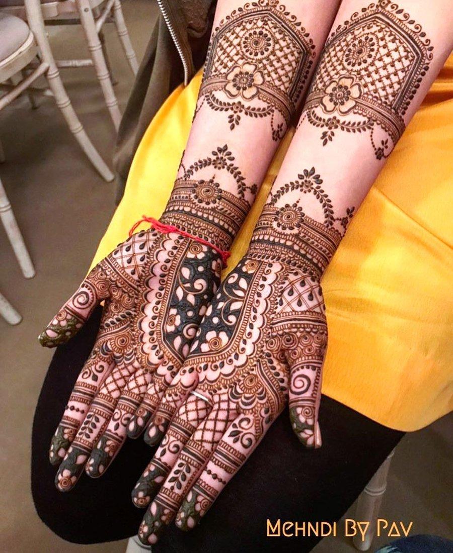 18 mehndi design hands full hand