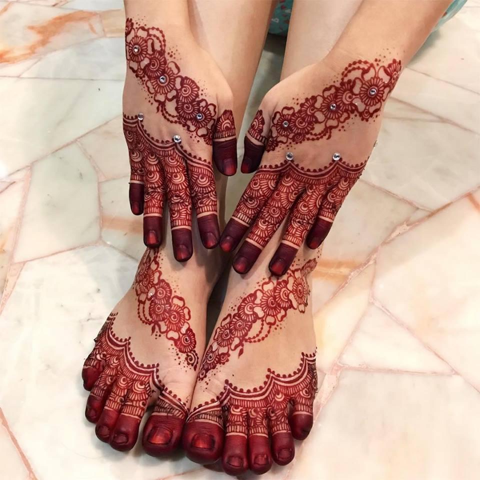 18 pakistani mehndi designs flower tikki
