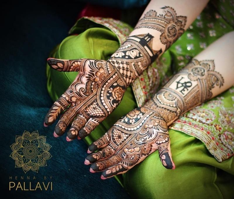 19 indian mehndi design bridal by pallavi