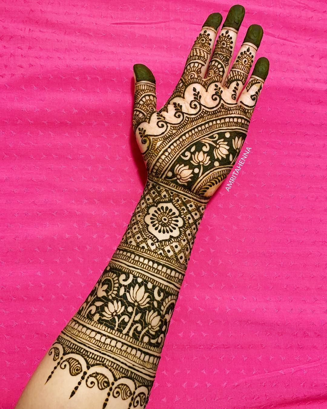 2 indian mehndi design traditional by amrita