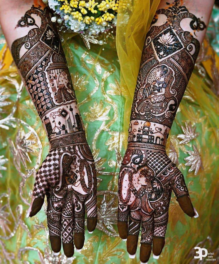 2 mehndi design hands full hand