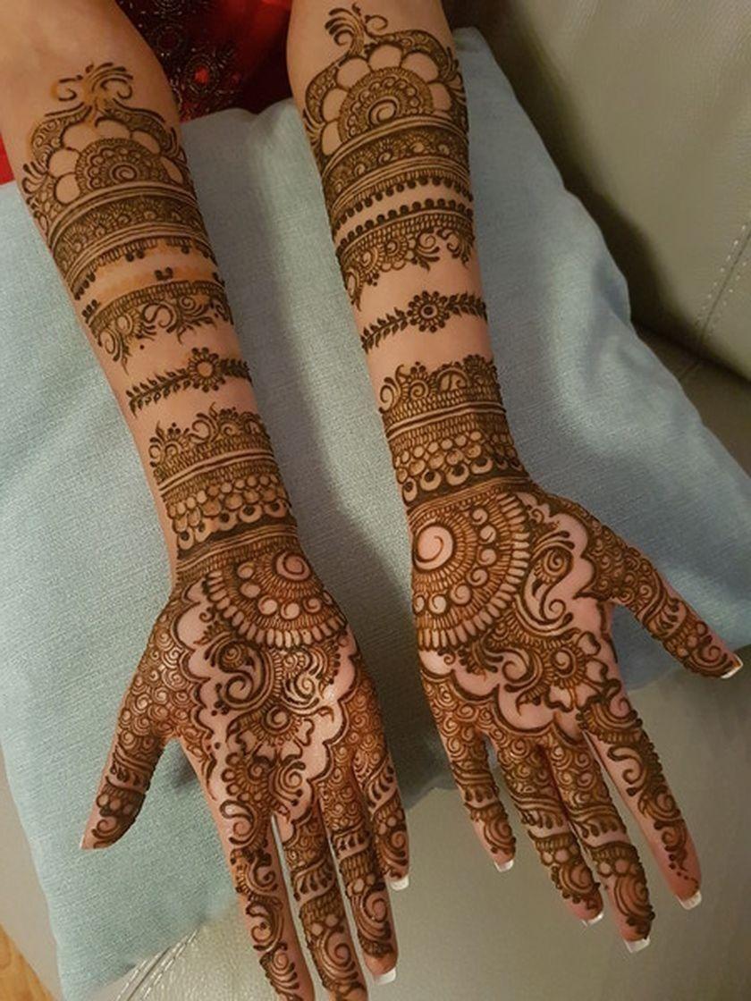 3 bangle mehndi design bridal