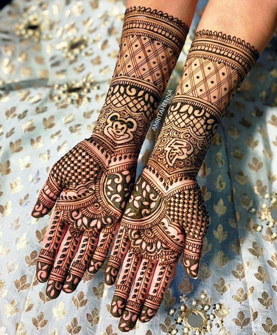 3 mehndi design hands full hand