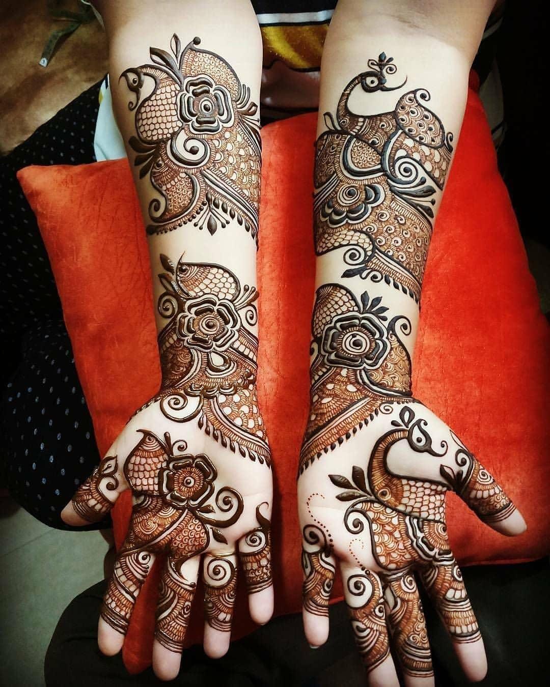 4 bangle mehndi design bridal