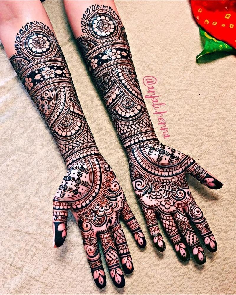 4 indian mehndi design bridal by anjali