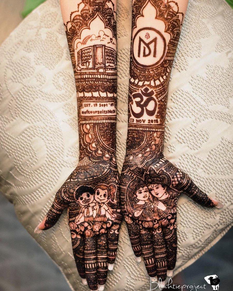 8 mehndi design hands full hand by black tie