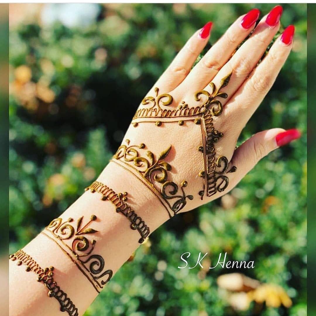 9 bangle mehndi design by sk henna